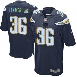 Roderic Teamer Jr. Los Angeles Chargers Men's Game Team Color Nike Jersey - Navy